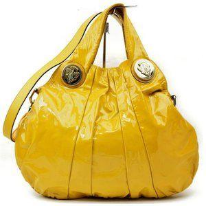 Auth Gucci Shoulder Bag Yellow Enamel #5092G15